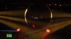 Disco ball, glare, light rays Stock Footage