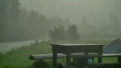 Rain and hail Altay Stock Footage