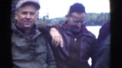 1956: men eating during fishing FLORIDA Stock Footage