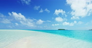 Sandy Tropical Island Paradise Stock Footage