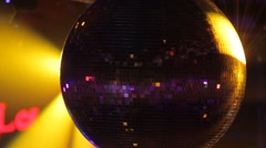 Disco ball in the spotlight Stock Footage