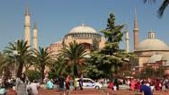 Hagia Sophia Museum In Istanbul Stock Footage
