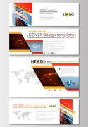 Social media and email headers set, modern banners. Business cover templates Stock Illustration