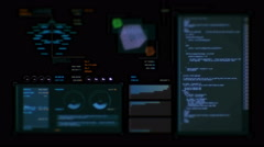 Ultra high resolution footage of data processing futuristic interface Stock Footage