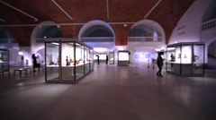 Hall and exhibition of ancient asian gods in Hermitahe, St Petersburg Stock Footage