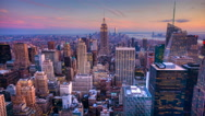 4K UltraHD Day to night timelapse in the city of New York Stock Footage