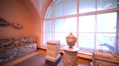 Amazing showpieces in Herminage Museum in Saint Petersburg Stock Footage