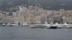 Port Hercule Monaco Stock Footage