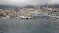Rowing Boats Monaco Stock Footage
