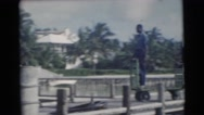1956: day on the pier FLORIDA Stock Footage