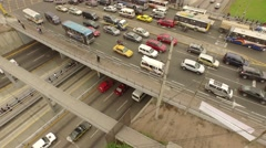 Congestion (Aerial) in Lima, Peru, South America Stock Footage