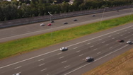 Highway with traffic. Aerial perspective. Stock Footage