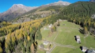Village houses in mountain - Aerial view Stock Footage