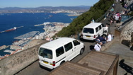Time Lapse tourism in Gibraltar Stock Footage