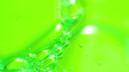 Green soap bubbles Stock Footage