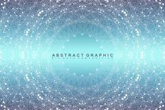 Graphic abstract background communication. Big data visualization. Connected Stock Illustration