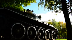 Tank T-64 Soviet Second-Generation Main Battle Tank - rearview Stock Footage