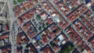 City drone building slum Stock Footage