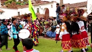 PERU: Traditional procession in Andes in Peru (South America) Stock Footage