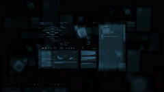Ultra high resolution footage of futuristic data processing interfaces cloud Stock Footage