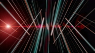 Futuristic animation with stripe object and light in motion, 4096x2304 loop 4K Stock Footage