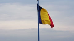 Romanian national flag Stock Footage