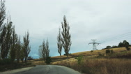 Deva, Romania country road 4K Stock Footage