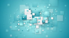 Abstract blue tech geometric squares video animation Stock Footage