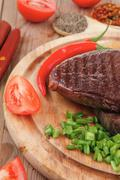Meat entree : grilled beef steak Stock Photos