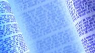 Calligraphic handwritten notes in Devanagari. Blue background loop. Stock Footage