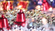 Christmas decoration bell close-up seamless loop Stock Footage