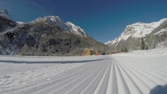 Athlete training -  cross country skiing Stock Footage