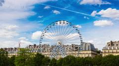 Timelapse, Paris, Tuilerie, petite roue Stock Footage