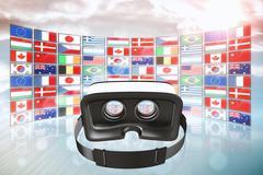 Composite image of digital image of virtual reality simulator Stock Illustration