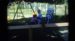 1956: family fun day in the backyard. FLORIDA Stock Footage
