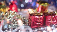 Christmas decoration gift box close-up seamless loop Stock Footage