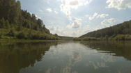 Flow of river Nemda Stock Footage