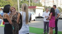 ODESSA, UKRAINE, June (2014) The guests talking during the opening Stock Footage