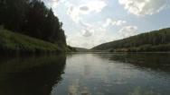 Flow of Nemda river Stock Footage