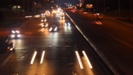 City traffic at night Stock Footage