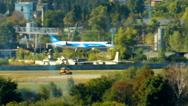 Passenger plane landing Stock Footage