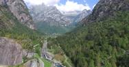 Valmasino - Sasso Remenno - Aerial view Stock Footage