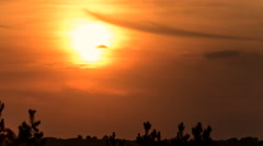Beginning of sunset, red sun at the end of day. Time lapse. Stock Footage