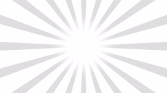 White and gray Burst vector background. Cartoon comic Background Stock Footage