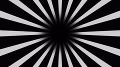 Black and white Burst vector background. Cartoon comic Background Stock Footage