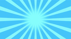 Blue Burst vector background. Cartoon sun light over Blue sky Background Stock Footage