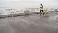 Perfect Running Partners Stock Footage