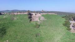 Tel Megiddo -Chalcolithic Temples - Circular altar - Grain silo Stock Footage