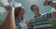 Success, achievement and accomplishment concept with young couples cheering Stock Footage