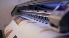 Printing on a plotter Stock Footage